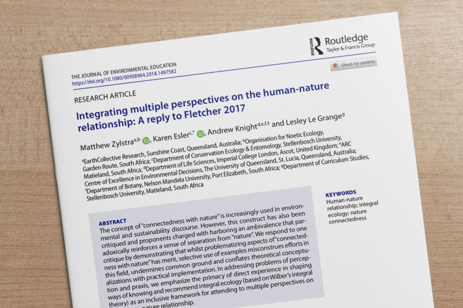 Integrating Perspectives on 'Human~Nature'
